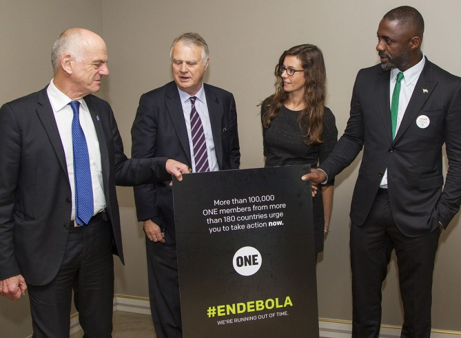 ONE and Idris Elba deliver Ebola petition to the UN Meetings